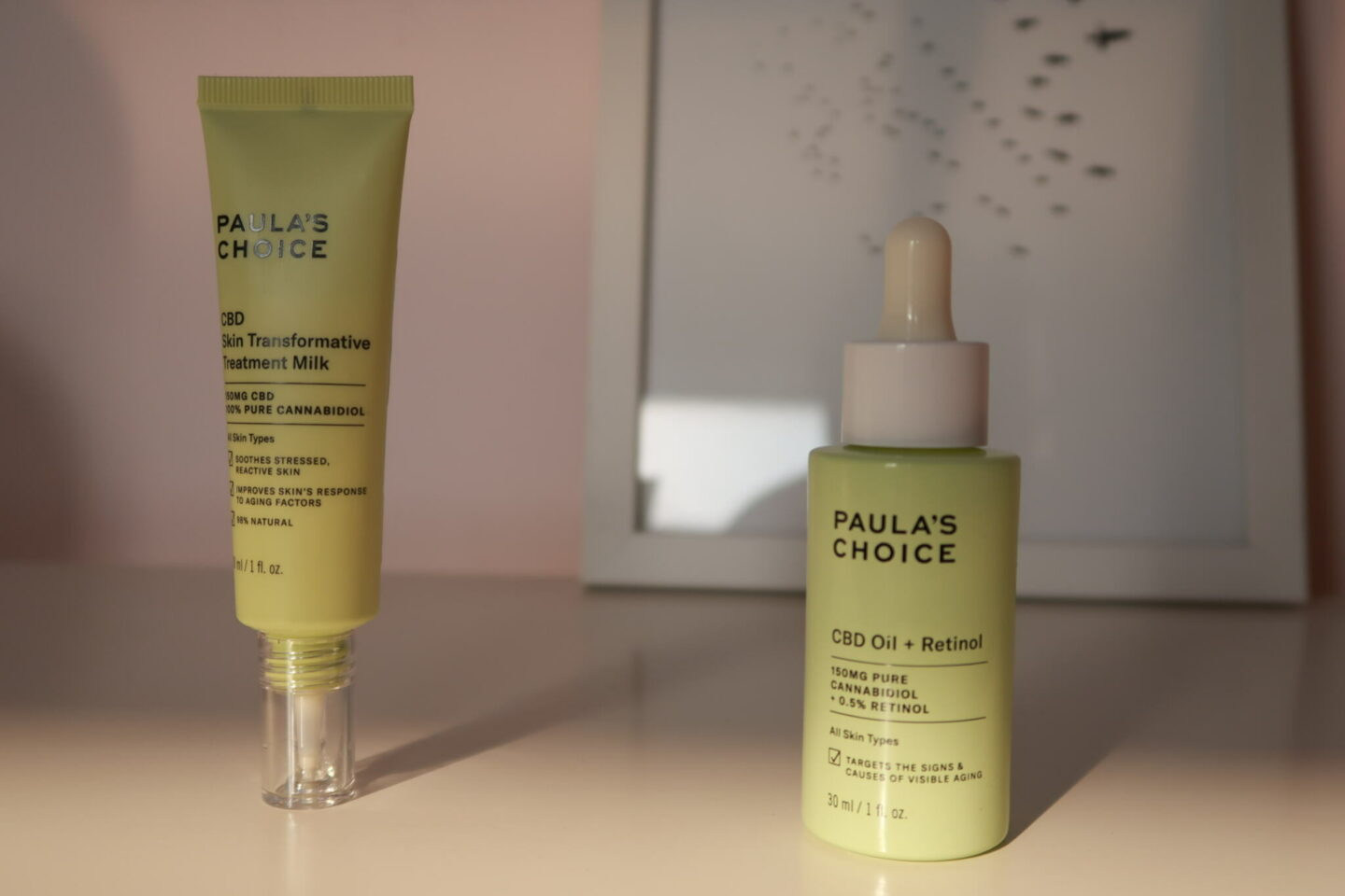 Paula's Choice CBD Transformative Skin Treatment Milk and CBD Oil + Retinol.    #cbd #skincare #beauty #soins #routinesoins #skincareroutine #paulaschoice #retinol #inflammedskin
