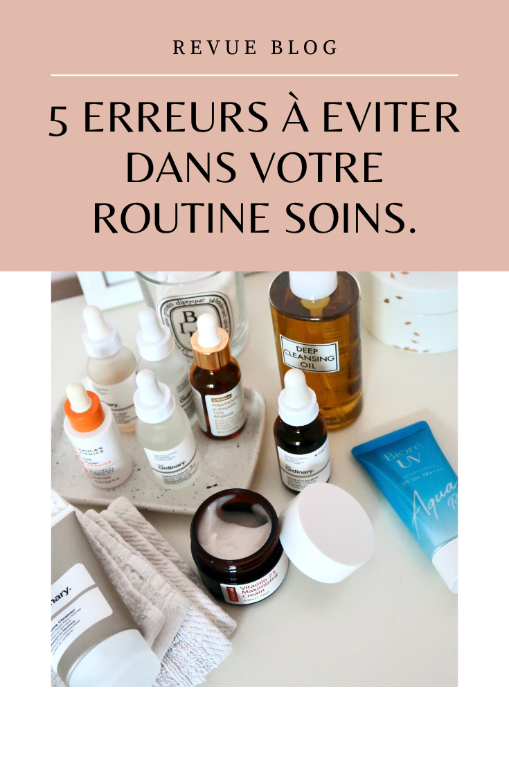 Erreurs routine soins   #routine #skincare #beauty #beaute #soins