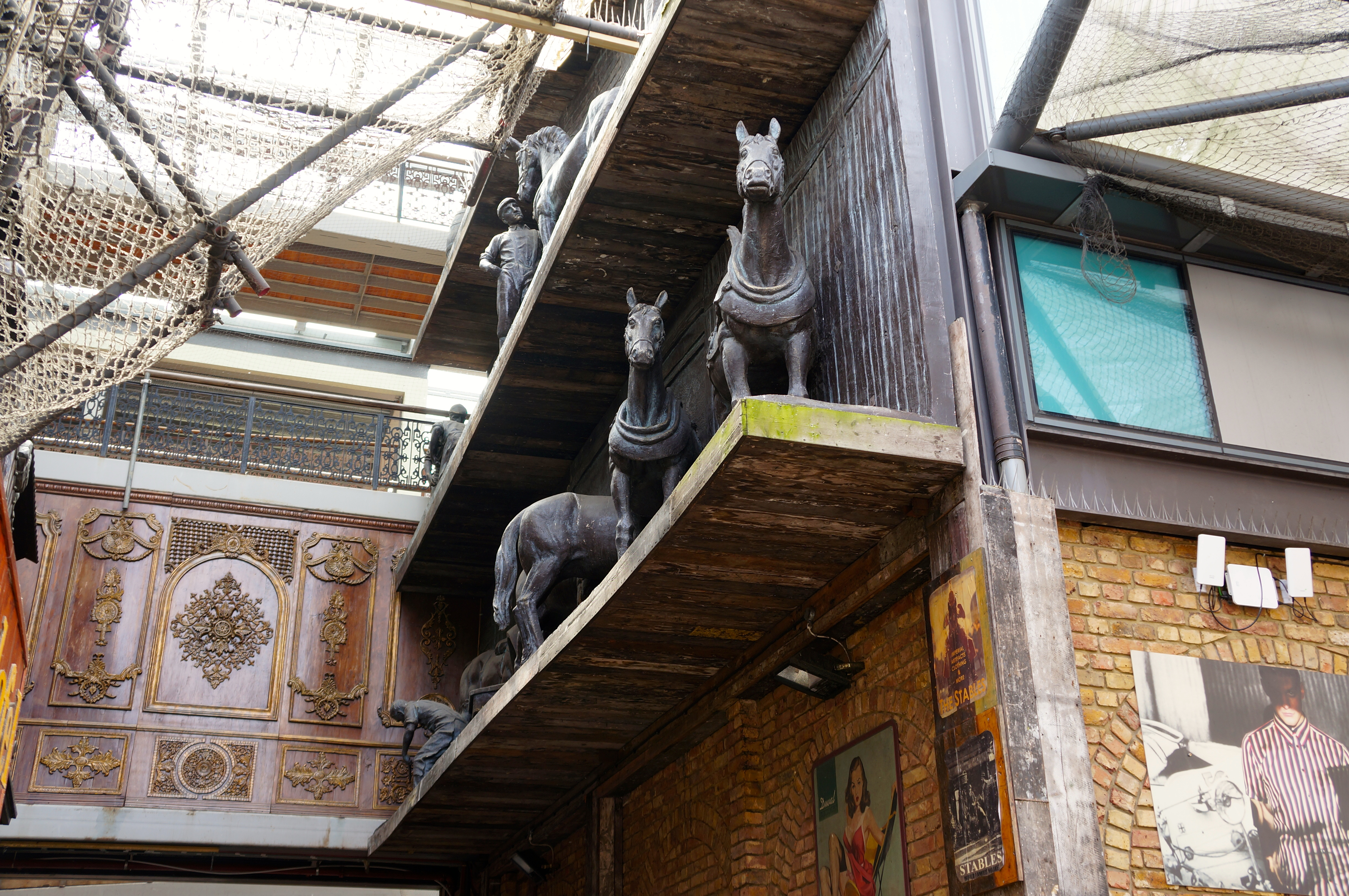 Camden market in the stables; London/ Pic by kiwikoo