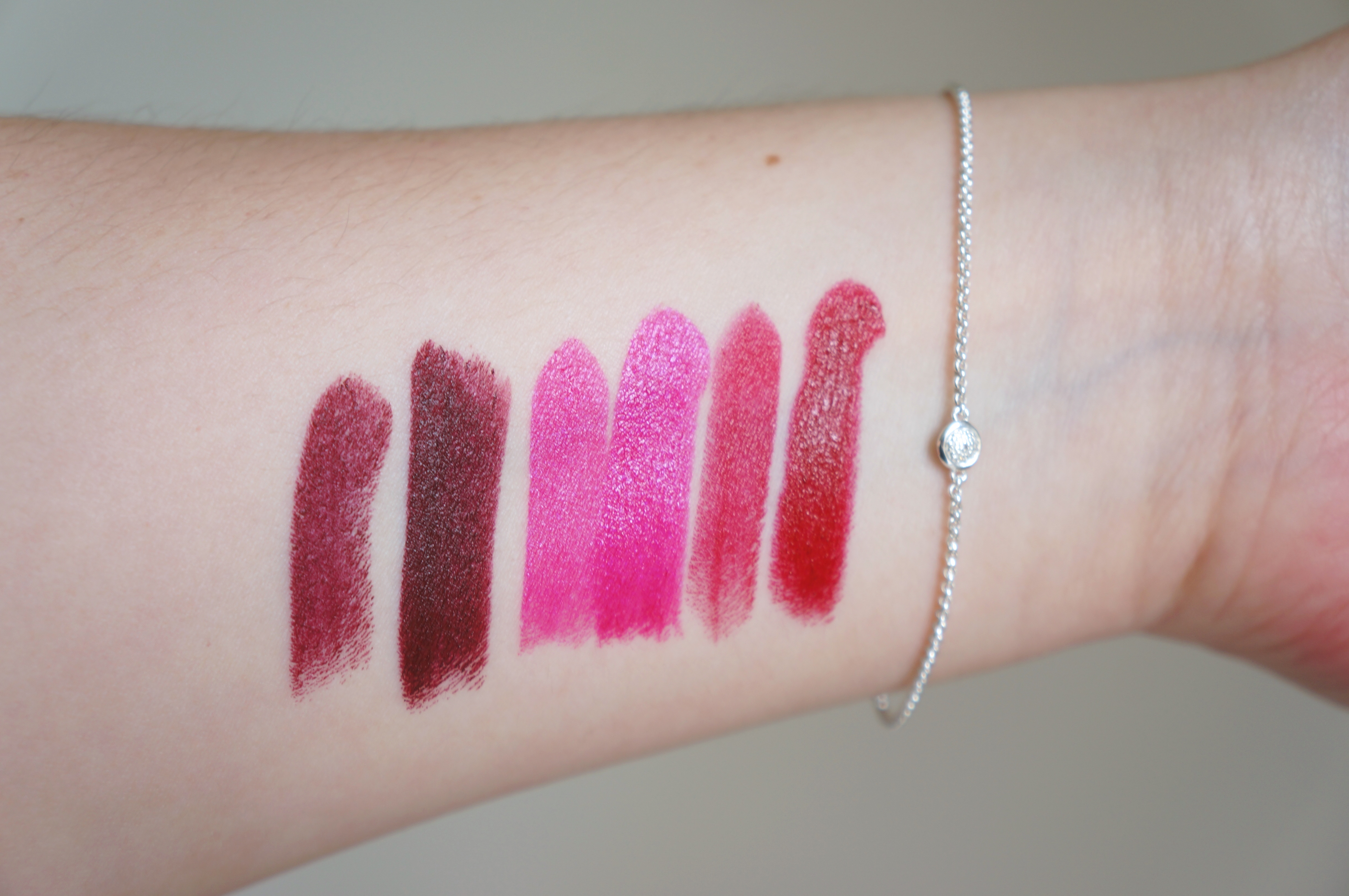 Urban Decay Vice Lipstick: 1 thin layer- 2 good layers. Disturbed/ Firebird / Rock Steady. Pic by 1FDLE.