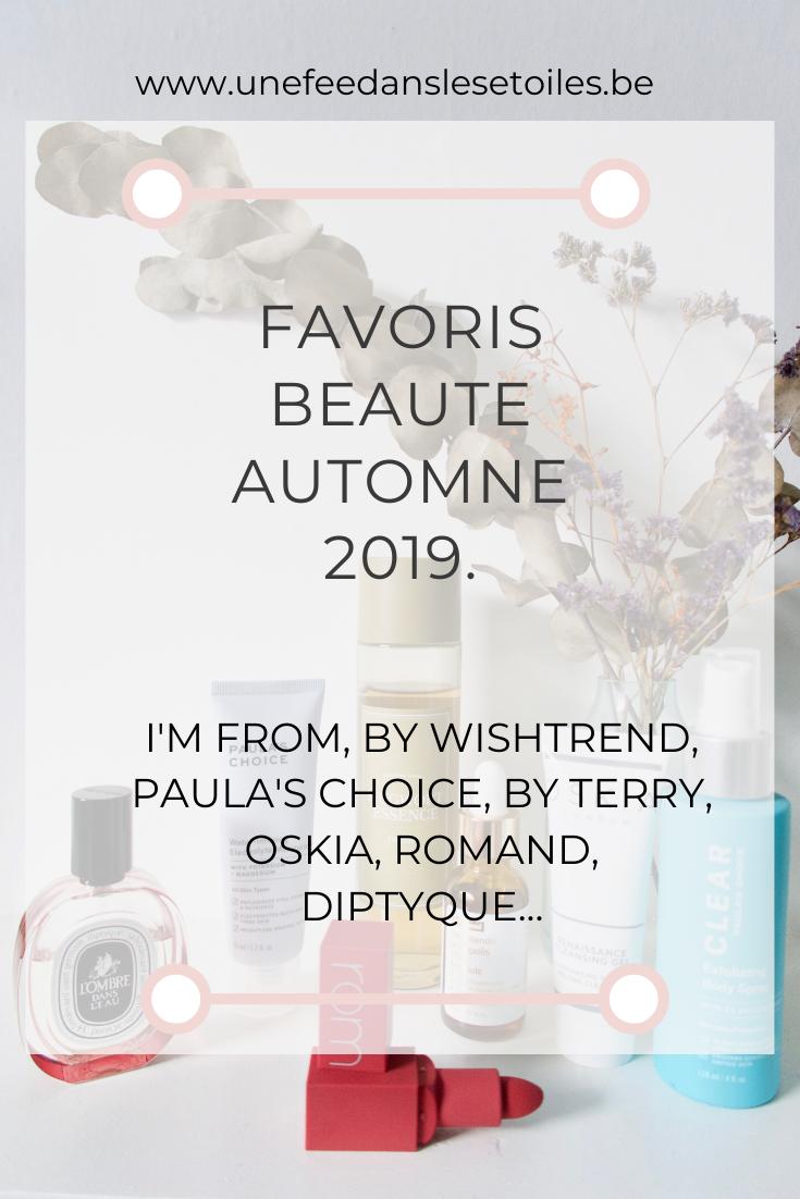 Favoris beauté automne 2019.
